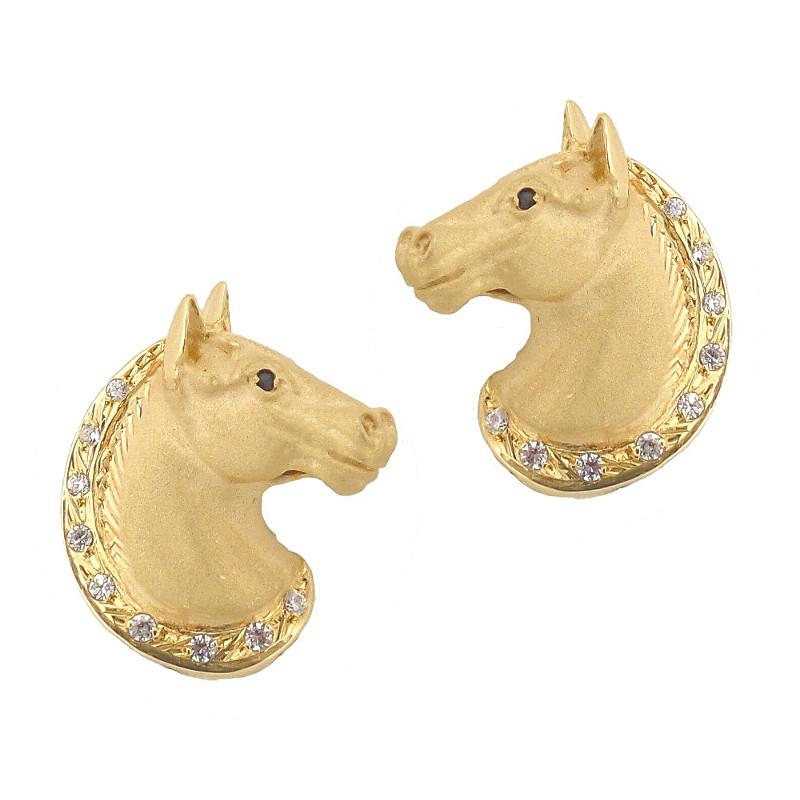 pendientes de caballos